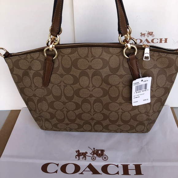 Coach Small Kelsey Satchel in Signature F28989 5e8346748b7f0
